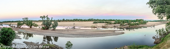 Fitzroy river at sundown